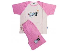 Pyžamo Krteček 012 krátké růžová