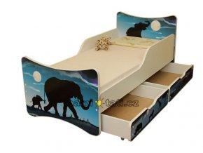 Dětská postel se zábranou a šuplík/y Afrika