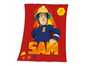 Fleece deka Požárník Sam 130/160 cm