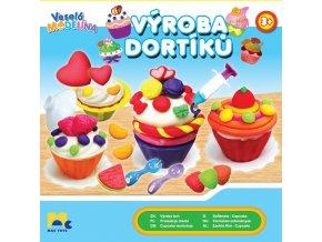 VESELÁ MODELÍNA dortíky + 4 kelímky modelíny SKLADEM