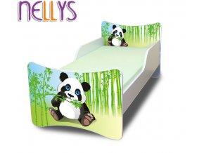 Dětská postel se zábranou Panda
