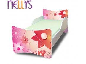 Dětská postel se zábranou KYTIČKY