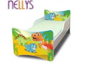 Dětská postel se zábranou Dino