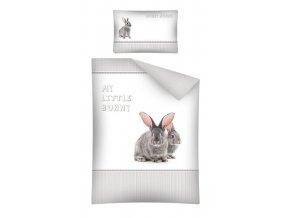 Povlečení s králíčky do dětské postýlky