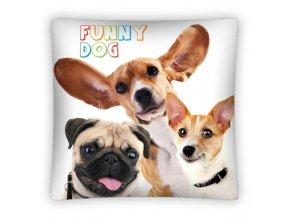Povlak na polštářek Funny Dog micro 40/40
