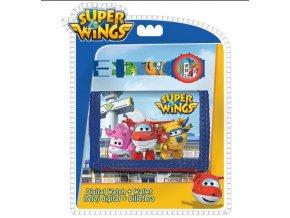 Dárková sada peněženka a hodinky Super Wings