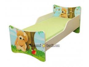 Dětská postel se zábranou Medvídek
