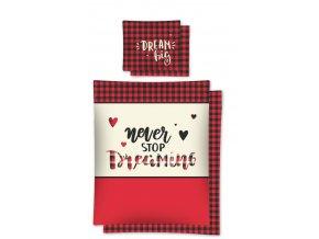 Povlečení Dream červené 140/200, 70/80