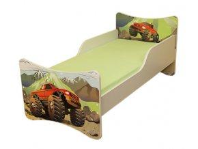 Dětská postel se zábranou AUTO