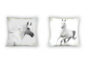 Povlak na polštářek Koně černobílé micro 40/40