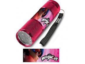Dětská hliníková LED baterka Kouzelná beruška růžová