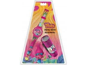 Dárková sada Trollové Poppy hodinky a LED baterka