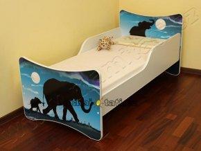 Dětská postel se zábranou Afrika
