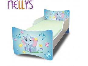 Dětská postel se zábranou Sloník