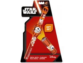 Dárková sada Star Wars BB-8 hodinky a LED baterka
