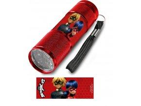 Dětská hliníková LED baterka Kouzelná beruška červená