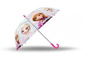 Vystřelovací průhledný deštník Ledové Království Anna a Elsa