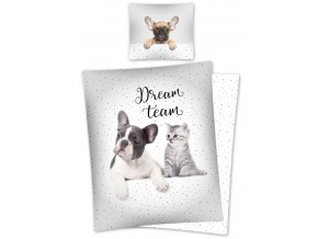 Povlečení Sweet Animals Dream Team 140/200, 70/80 - skladem