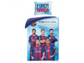 Povlečení Barcelona hráči modré 140/200, 70/90 - skladem