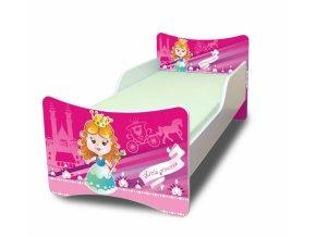 Dětská postel se zábranou Malá princezna