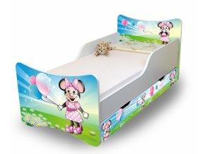 Dětská postel se zábranou a šuplík/y Myška s balónkem