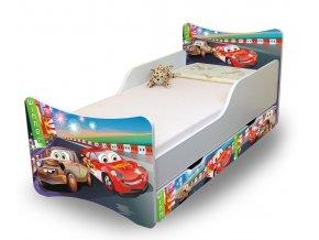 Dětská postel se zábranou a šuplík/y Auta 2