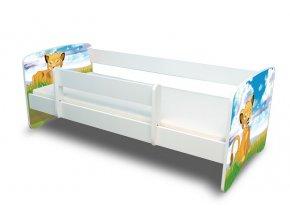 Dětská postel s bariérkou Filip - Lvíček