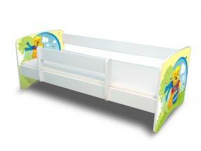 Dětská postel s bariérkou Filip - Medvídek Pú s medem