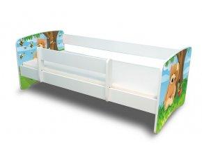 Dětská postel s bariérkou Filip - Medvídek