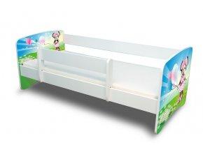 Dětská postel s bariérkou Filip - Myška s balonkem