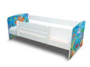 Dětská postel s bariérkou Filip - Ocean