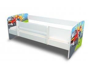 Dětská postel s bariérkou Filip - Hasič