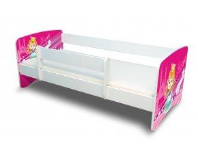 Dětská postel s bariérkou Filip - Malá princezna