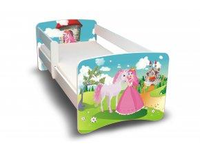 Dětská postel s bariérkou Filip - Princezna