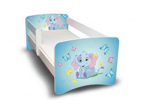 Dětská postel s bariérkou Filip - Sloník