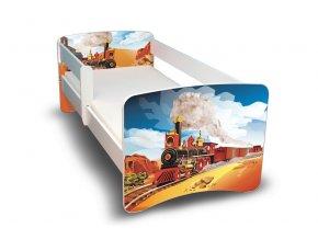 Dětská postel se zábranou Vlak
