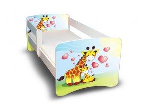 Dětská postel s bariérkou Filip - Žirafky