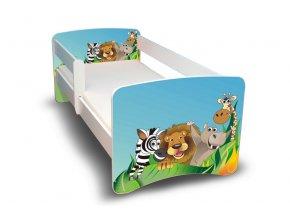 Dětská postel s bariérkou Filip - ZOO