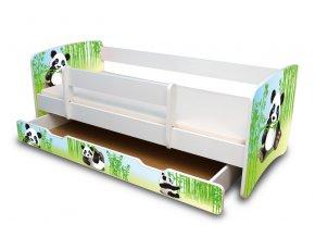 Dětská postel se zábranou a zásuvkou Panda