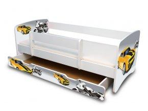 Dětská postel s bariérkou a šuplík/y Filip - Závodník