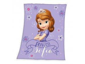 Fleece deka Princezna Sofie první 130/160