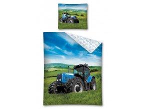 Povlečení Traktor modrý 140/200, 70/80 - skladem