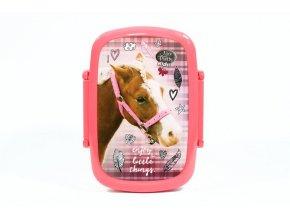 Box na svačinu Nice and Pretty Kůň růžový