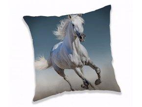 polštářek bílý kůň
