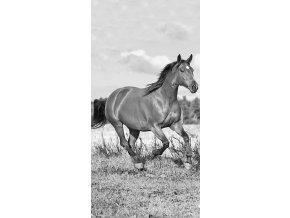 Osuška Kůň černobílá 70/140