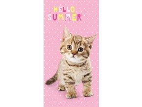 Osuška Kotě Hello Summer 70/140 - skladem