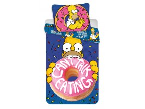 Povlečení Homer Simpson Donuts 140/200 sleva