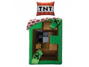 Povlečení Minecraft Creeper TNT 140/200, 70/90
