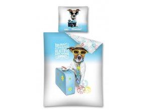 Povlečení Sweet Animals Pes na dovolené 140/200 cm - skladem
