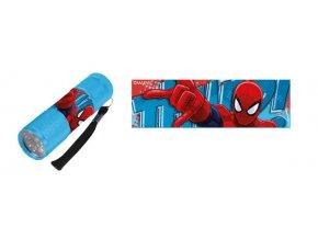 Dětská hliníková LED baterka Spiderman